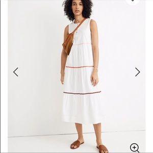 Madewell rickrack cattail tiered dress. Small NWT